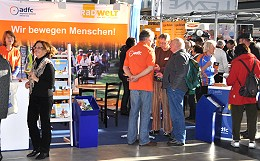 Großer Andrang am Messestand des ADFC