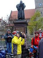 Delegierten-Stadtführung per Rad in Erfurt