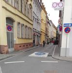 Anfang der Fahrradstraße Plöck