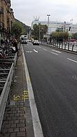 Sofienstraße nach Ende der Radspur