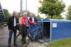 Eröffnung Fahrradboxen in Salem mit Brügermeister Härle, Wolfgang Olek, Bernhard Glatthaar
