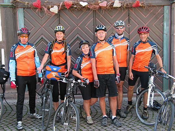 Einige TourenleiterInnen des ADFC Strohgäu