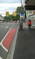 Radwegausleitung ohne weitere Radverkehrsführung