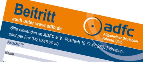 Ausschnitt ADFC-Beitrittsformular